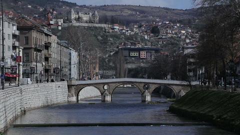 Sarajevo Latin Bridge Footage