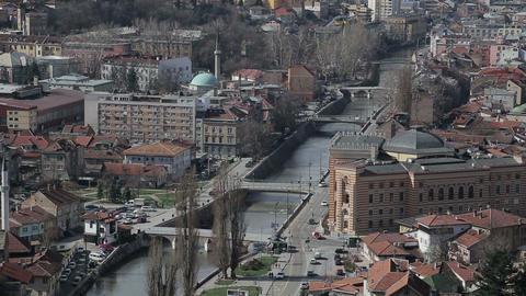 Sarajevo bridges Footage
