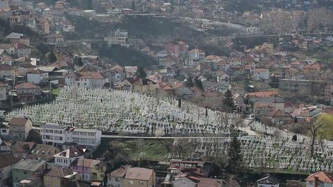 Sarajevo cemetery Footage