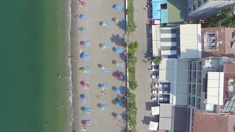Calis Beach Aerial View stock footage