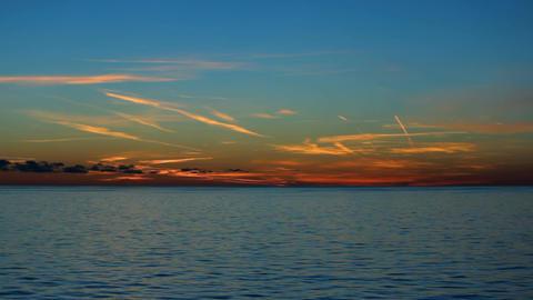 warm sunset at sea Footage