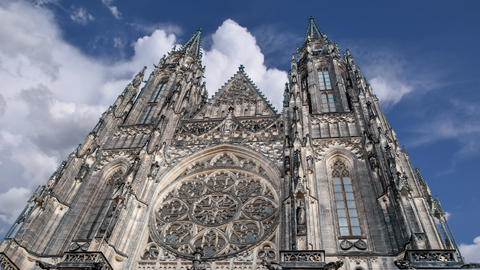 st. Vita`s Cathedral in Prague Footage