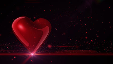Full HD Heart on black background Animation