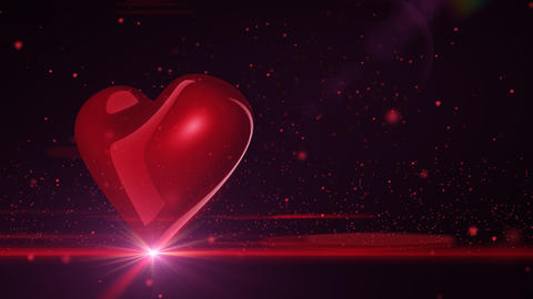 Full HD Heart on black background Stock Video Footage
