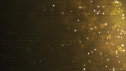 Triangle Particle Background Animation - Loop Golden Animation