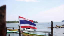 Thailand Flag Slow Motion stock footage