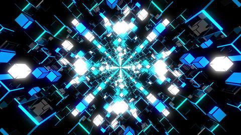 VJ Loop Blue Tunnel Animation