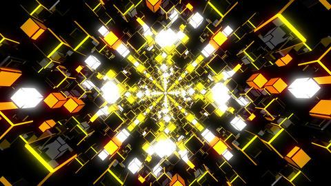VJ Loop Yellow Tunnel Animation