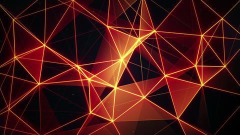 futuristic glowing orange network seamless loop 4k (4096x2304) Animation
