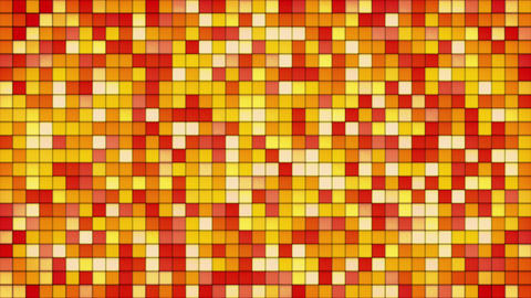 orange tiles glass mosaic seamless loop background 4k (4096x2304) Animation