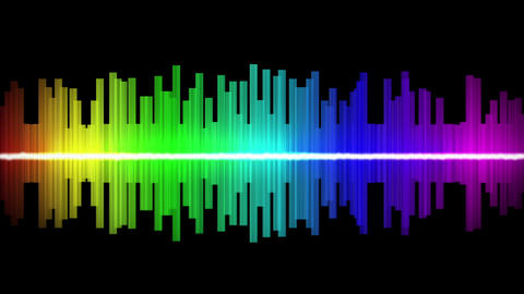 EQ Audio Level Waveform - loopable Animation
