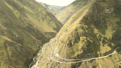 Nariz Del Diablo Famous Train Route In Ecuador Panning Live Action