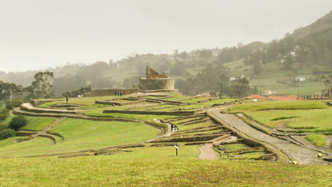 Ingapirca Ruins In Ecuadorian Highlands Live Action