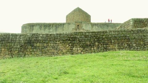 Temple of the Sun obelisk ruins at Ingapirca Footage