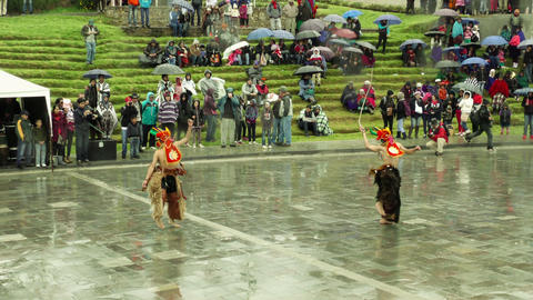 Traditional dancers at Inti Raymi festival Footage
