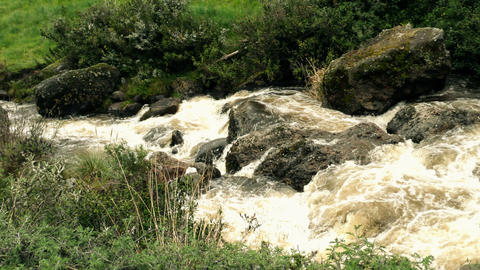 Unpolluted River In Andes Mountains stock footage