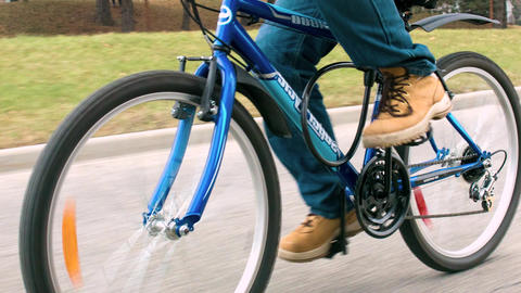 Riding Bike Bicycle stock footage