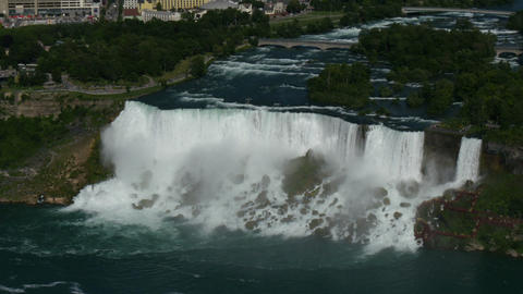 niagara falls on the american side,new york,top view from skylon tower in canada Footage