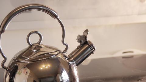 Kettle Steam Kitchen Stove Footage