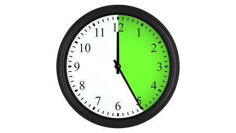 Animated clock with a green time interval Animation