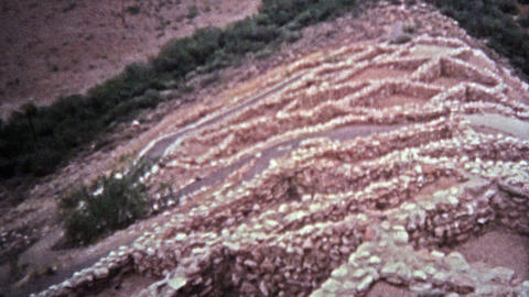 1972: Tuzigoot National Monument Ancient Mound Ruins In The American Southwest stock footage