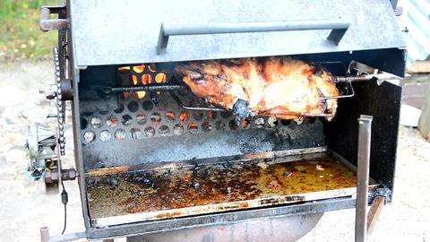 Pork meat grilling Live Action