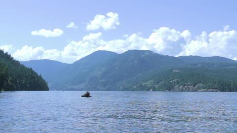 Mountain Lake Beach Vacation stock footage