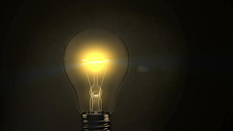 Light Bulb Turning On - 4K Animation