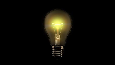 Light Bulb Turning On - Alpha Stock Video Footage