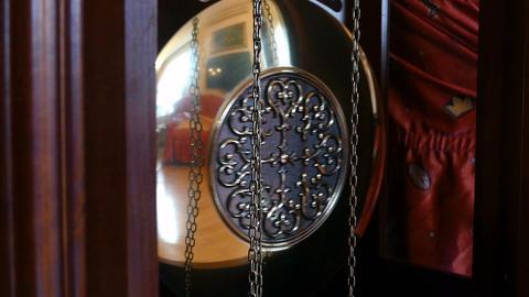pendulum clock hd Footage