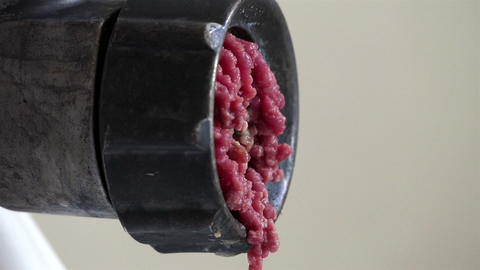 Minced Meat Grinder Scroll (side View) stock footage