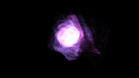 Pink and violet matter's emission Animation
