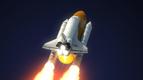 Space Shuttle Solid Rocket Boosters Separation Animation