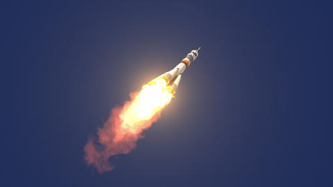 Carrier Rocket Takes Off Animation