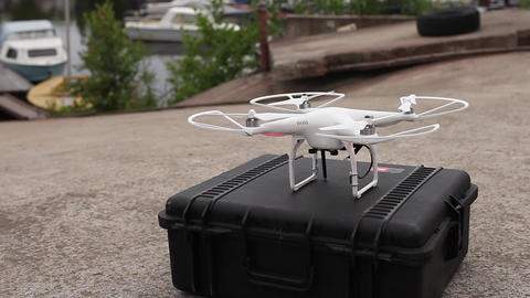 Drone Flies Up stock footage
