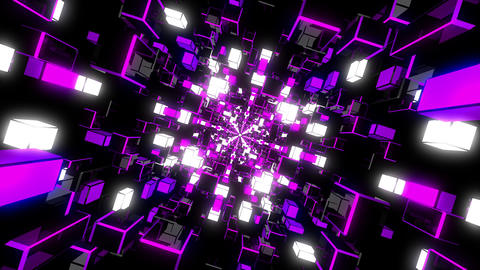 Violet Rotating Tunnel Animation