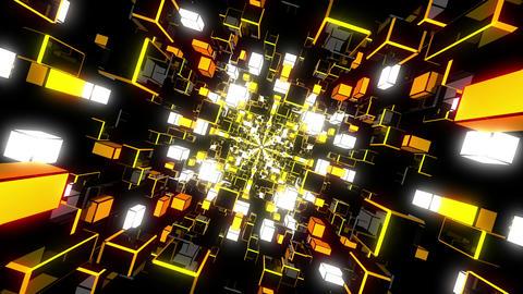 Yellow Rotating Tunnel Animation