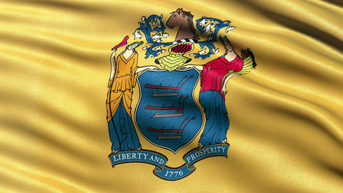 4K New Jersey state flag seamless loop Ultra-HD Animation