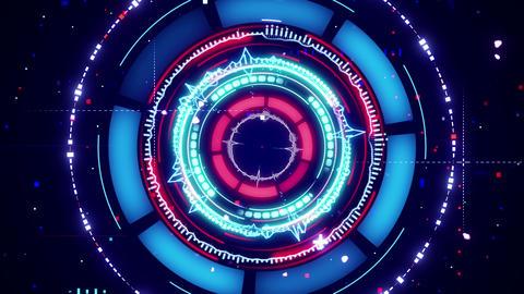 circular spectrum analyzer futuristic loopable animation 4k (4096x2304) Animation