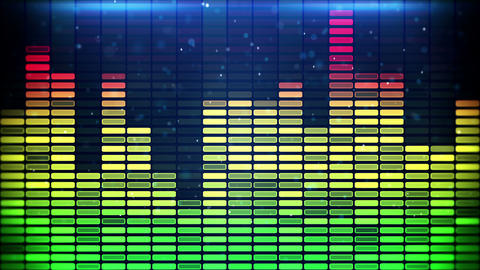 music equalizer loopable animation 4k (4096x2304) Animation