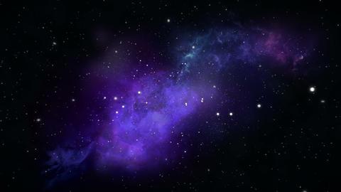 Stars Space Flyby, Nebula - 4K stock footage