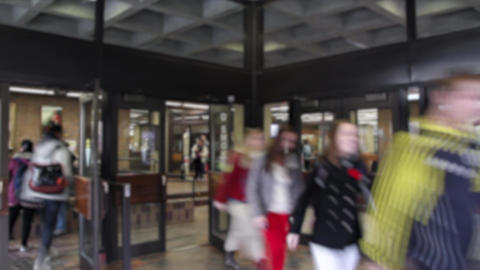 School Entrance Time Lapse stock footage