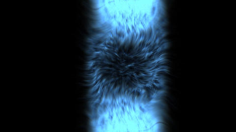 Blue fancy cylinder Animation