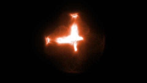 Orange and bright cross CG動画素材