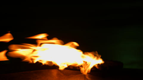 Dancing Flame On Gas Stove stock footage