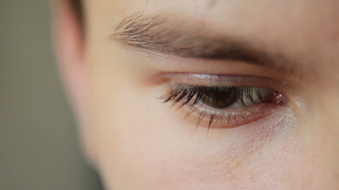 Closeup Shot Of Boy Eye 09 Footage