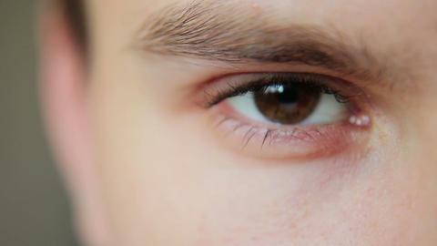 Closeup Shot Of Boy open Eye 12 Footage