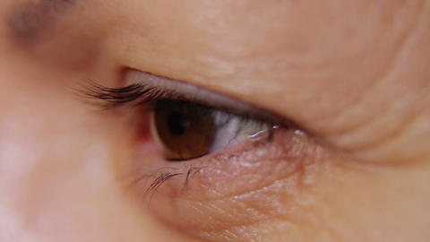 Closeup Shot Of Woman Eye 04 Footage