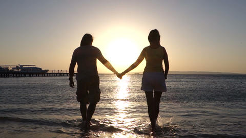 Man And Woman stock footage