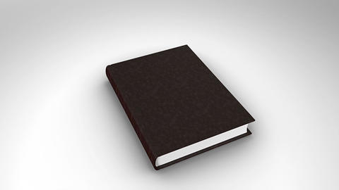 Book opening on white background Animation